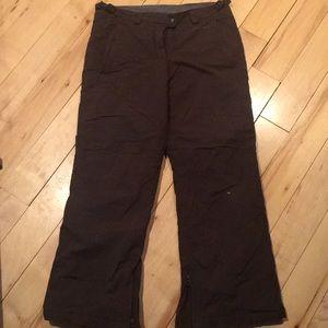 Girls brown snow pants